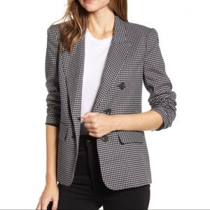 1. State Ruched Sleeve Rhythm Plaid Blazer S NWT